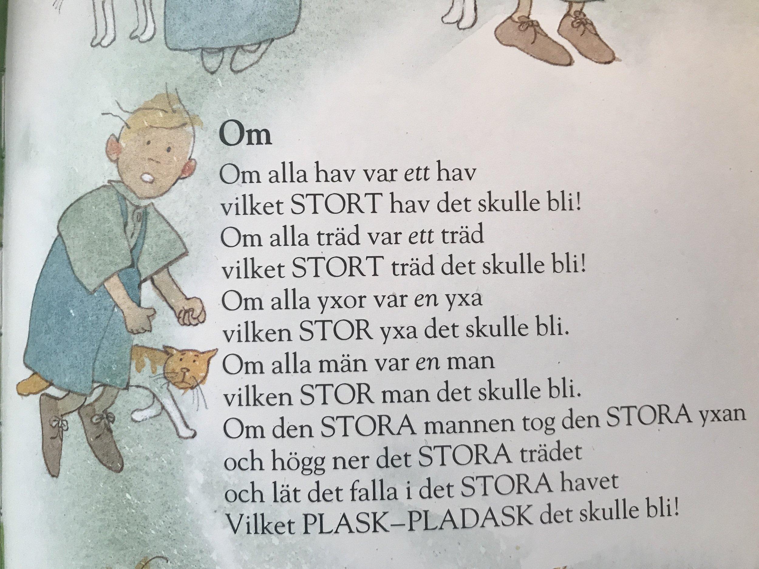 OM - dikt av Lennart Hellsing