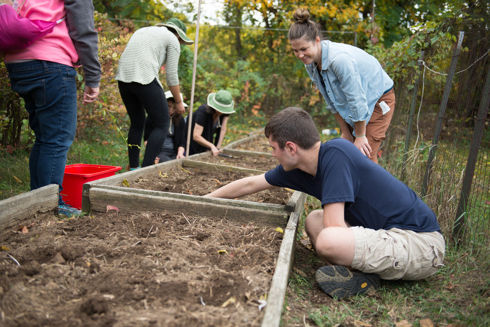 Education - Education in urban container gardening focuses on learning about seeding and plant propagation, composting, soil mixes, growing flowers, herbs, fruits and veggies, equipment safety and use, and biological/biodynamic practices.