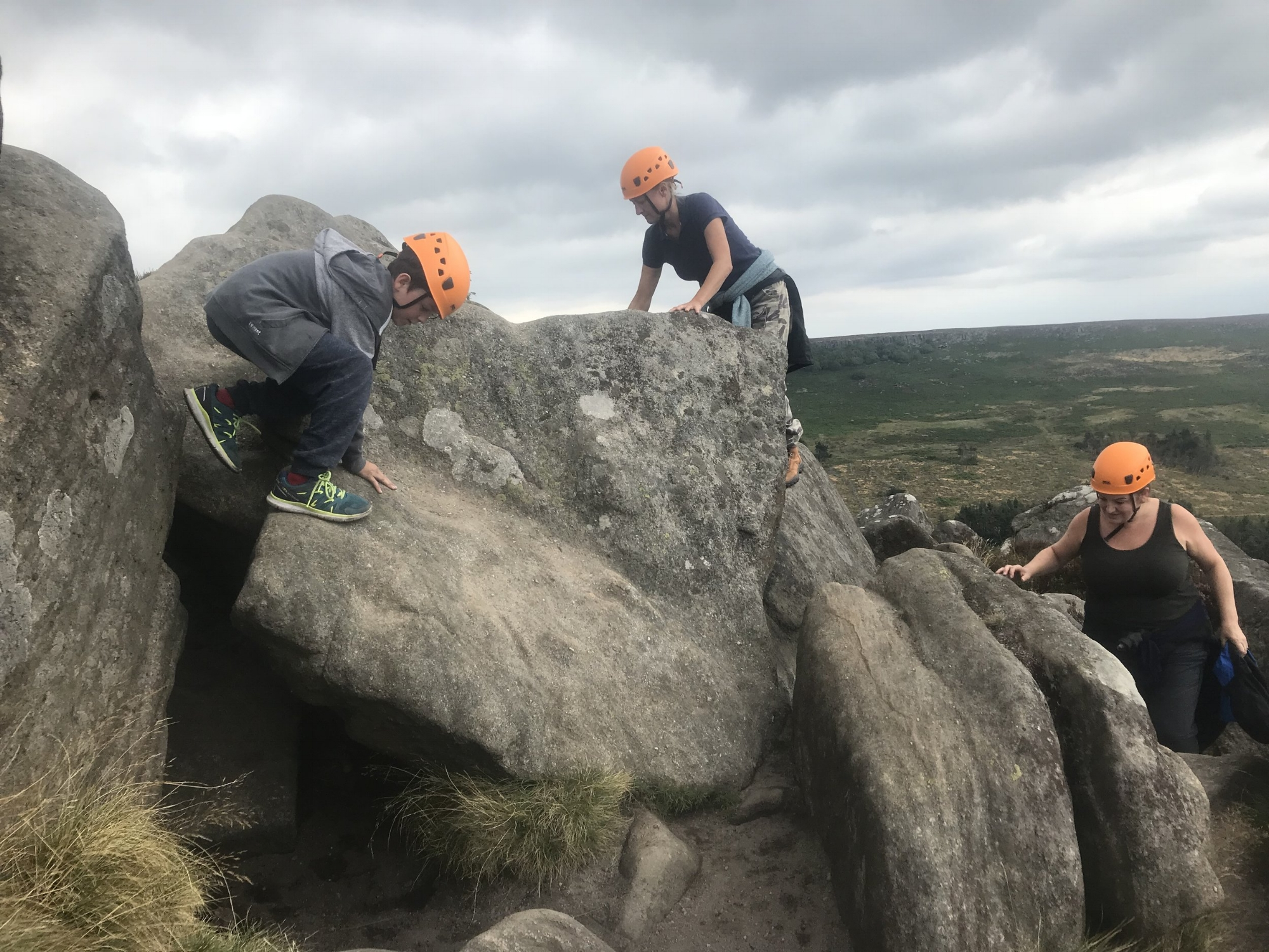 Weaselling at Higgar Tor Peak District