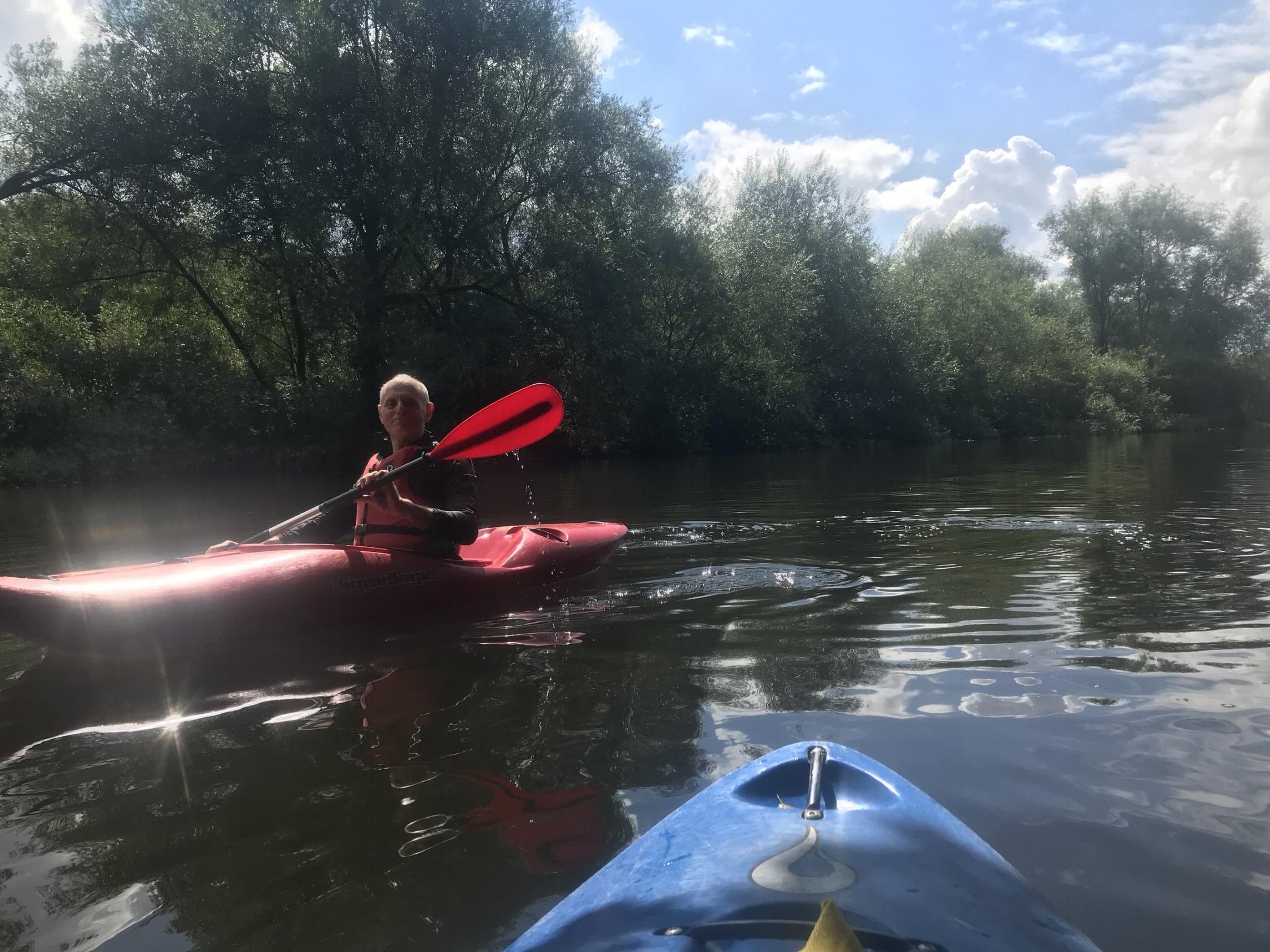 Kayaking on the River Don, Sprotborough