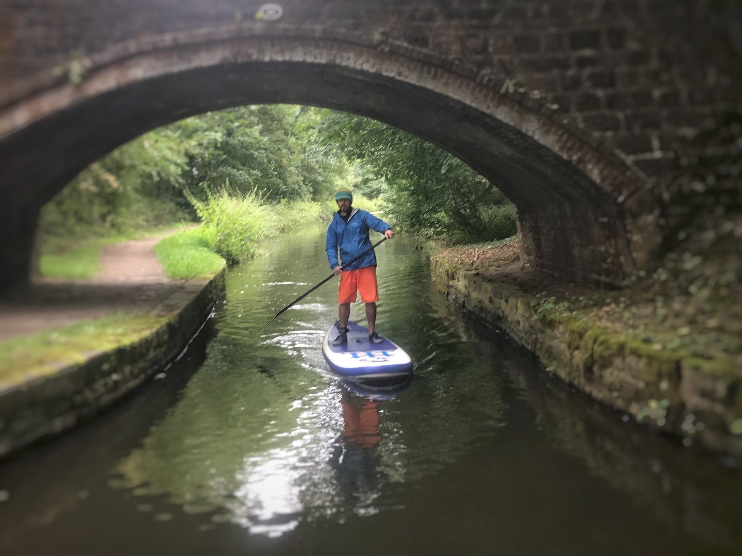 Paddleboarding on the Chesterfield Canal