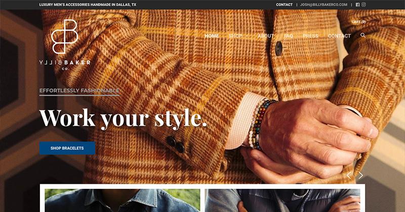 BILLY BAKER CO  Shopify Online Store