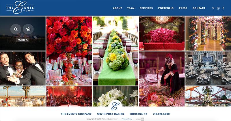 THE EVENTS CO  Custom WordPress Website