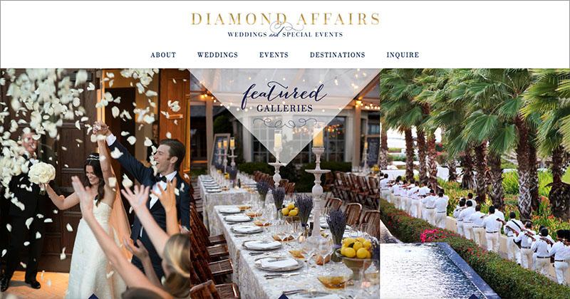 DIAMOND AFFAIRS  Custom WordPress Website