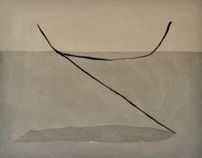 Anclas fantasma  Técnica mixta sobre tela 55cm x 70cm 2016