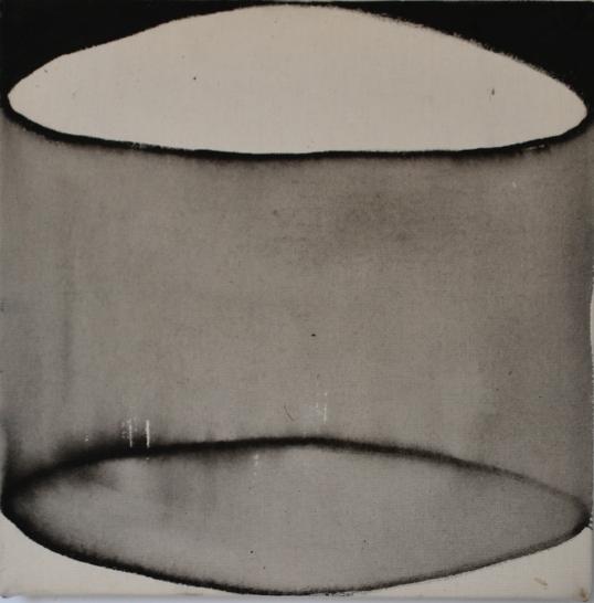 Forma y proyección I  Tinta sobre tela 35 cm x 35cm 2016