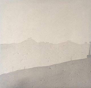 Paisaje costero  Tinta sobre algodón 60 x 60cm 2017