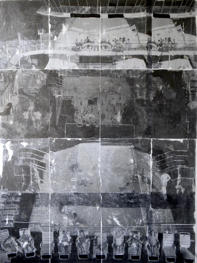 Crucero  Técnica mixta sobre tela 1.42m x 1.07m 2013