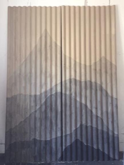 Paisaje  Material de huayco sobre calamina 2.20m x 3m 2017