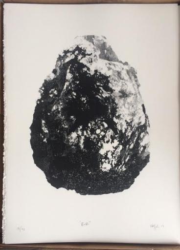 Rock  Serigrafía sobre papel 28.5 x 38cm 2017
