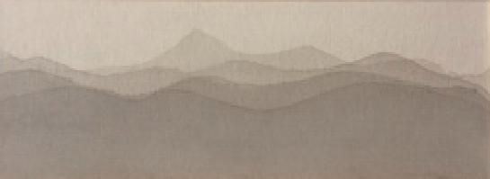 Paisaje  Tinta sobre lona 19.5 x 49.4cm 2017