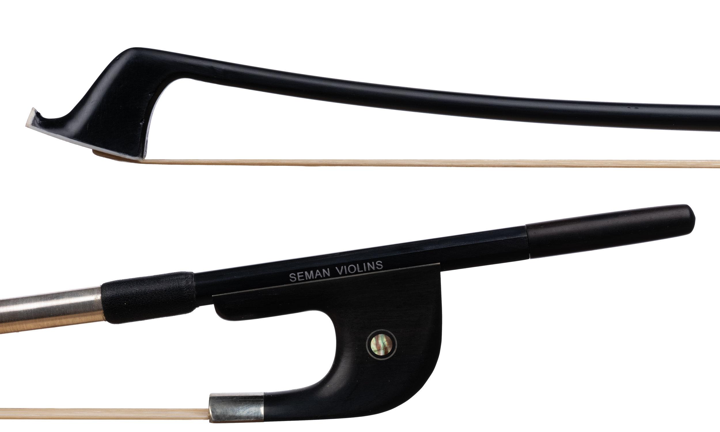 Seman Violins - Nickel and ebony-mounted