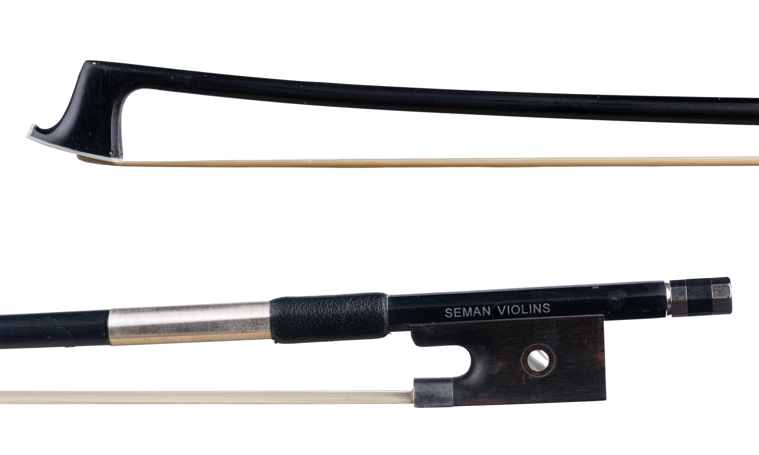 Seman Violins - Nickel-mounted ebony frog