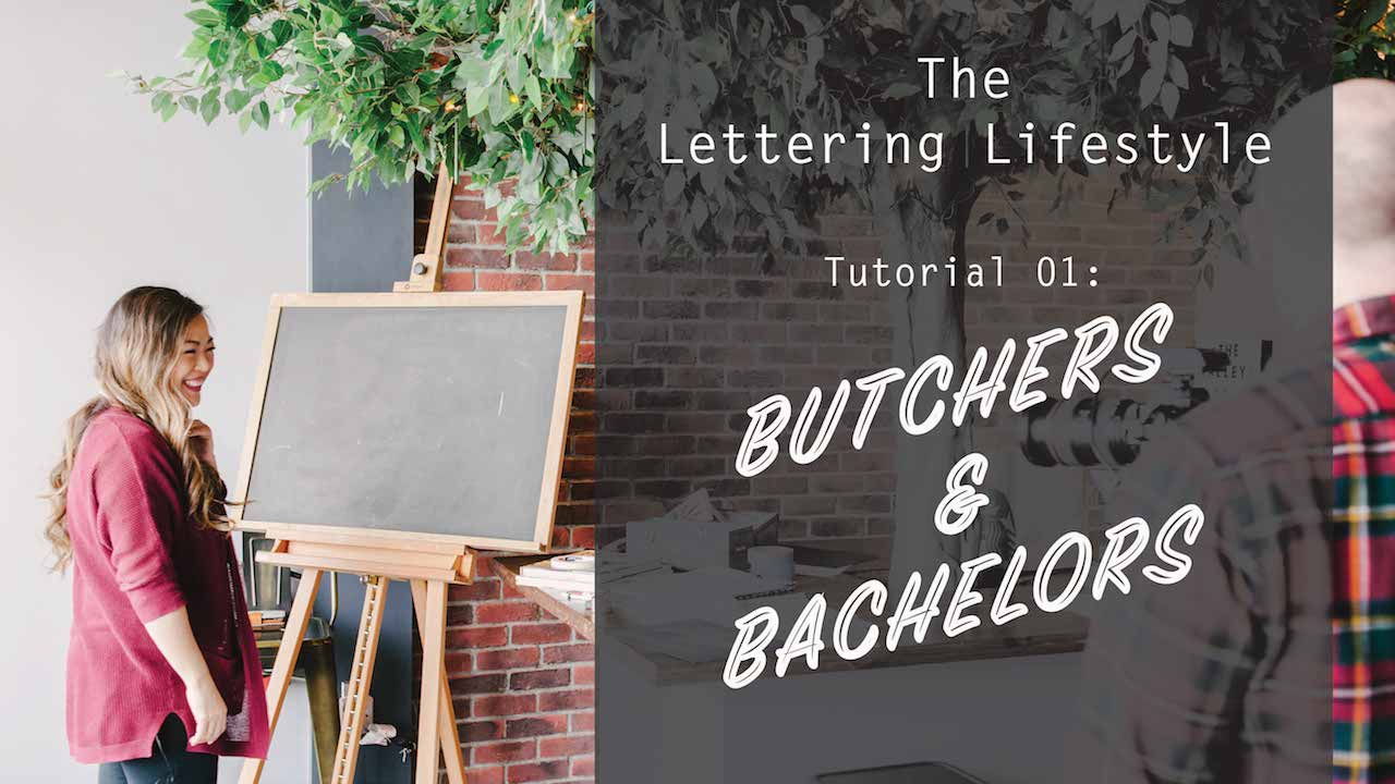 Watch our  FIRST tutorial  on our new channel on YouTube called The Lettering Lifestyle