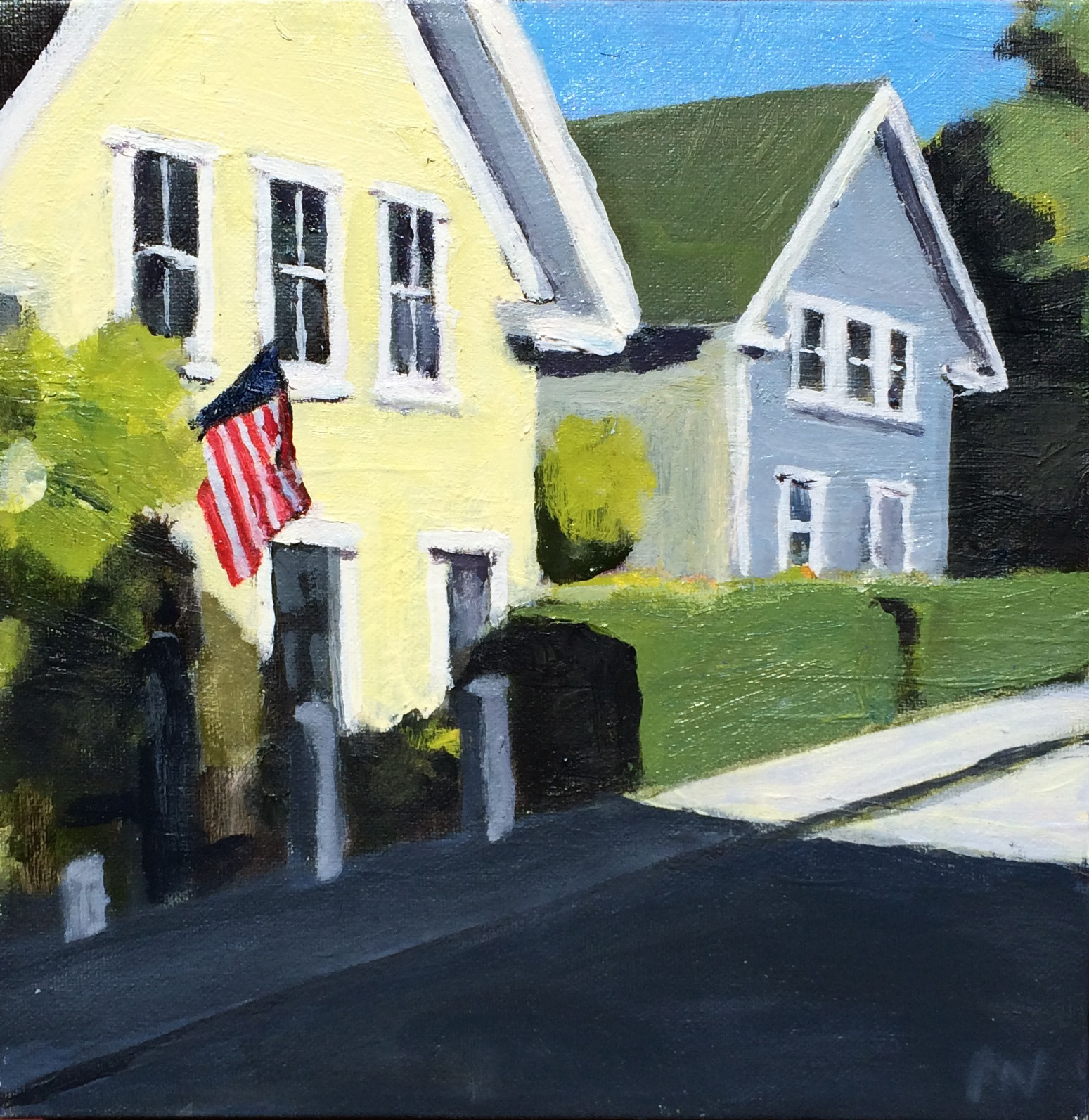 """The Patriots, Oil on Canvas, 10x10"""""""