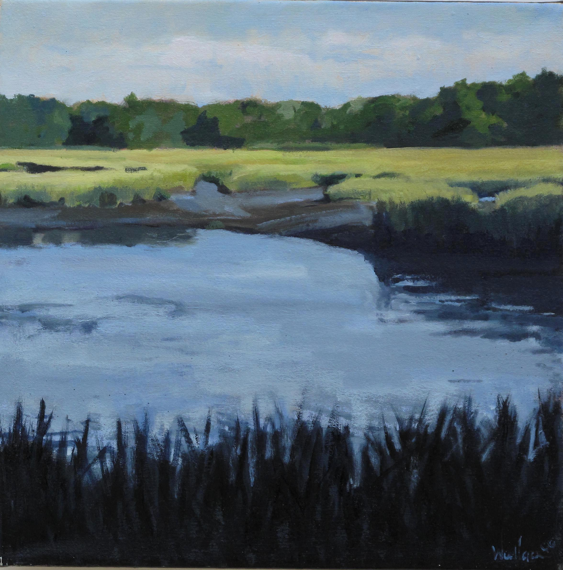 Marsh II, Oil on Canvas, 16x16""