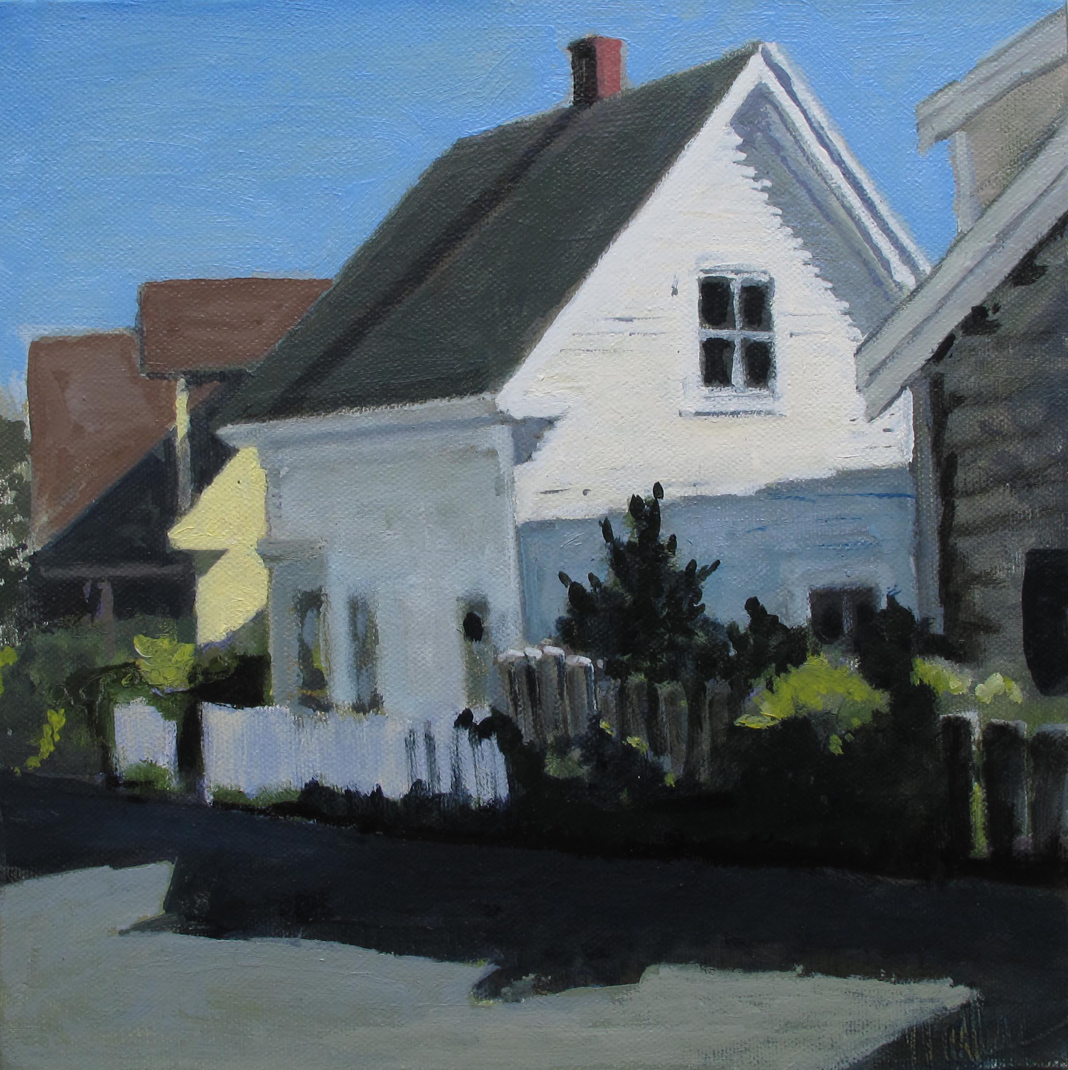 "West Vine St., Oil on Canvas, 12x12"""