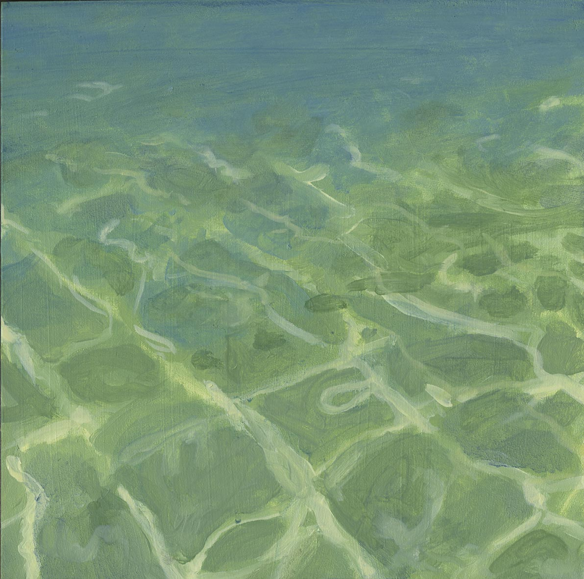 Sea I, Oil on panel, 12x12""