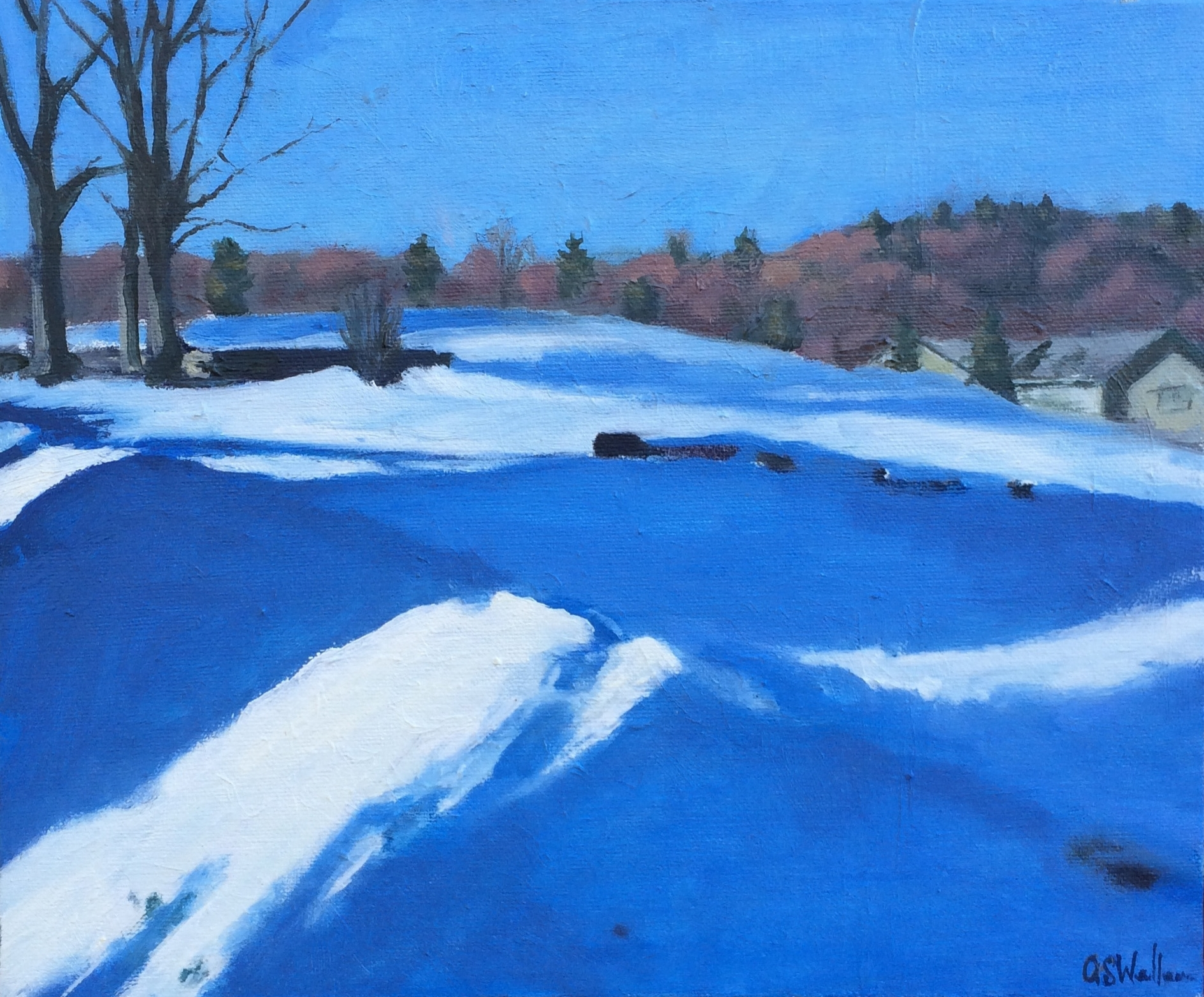 Winter's Edge, Oil on Linen, 10x12""