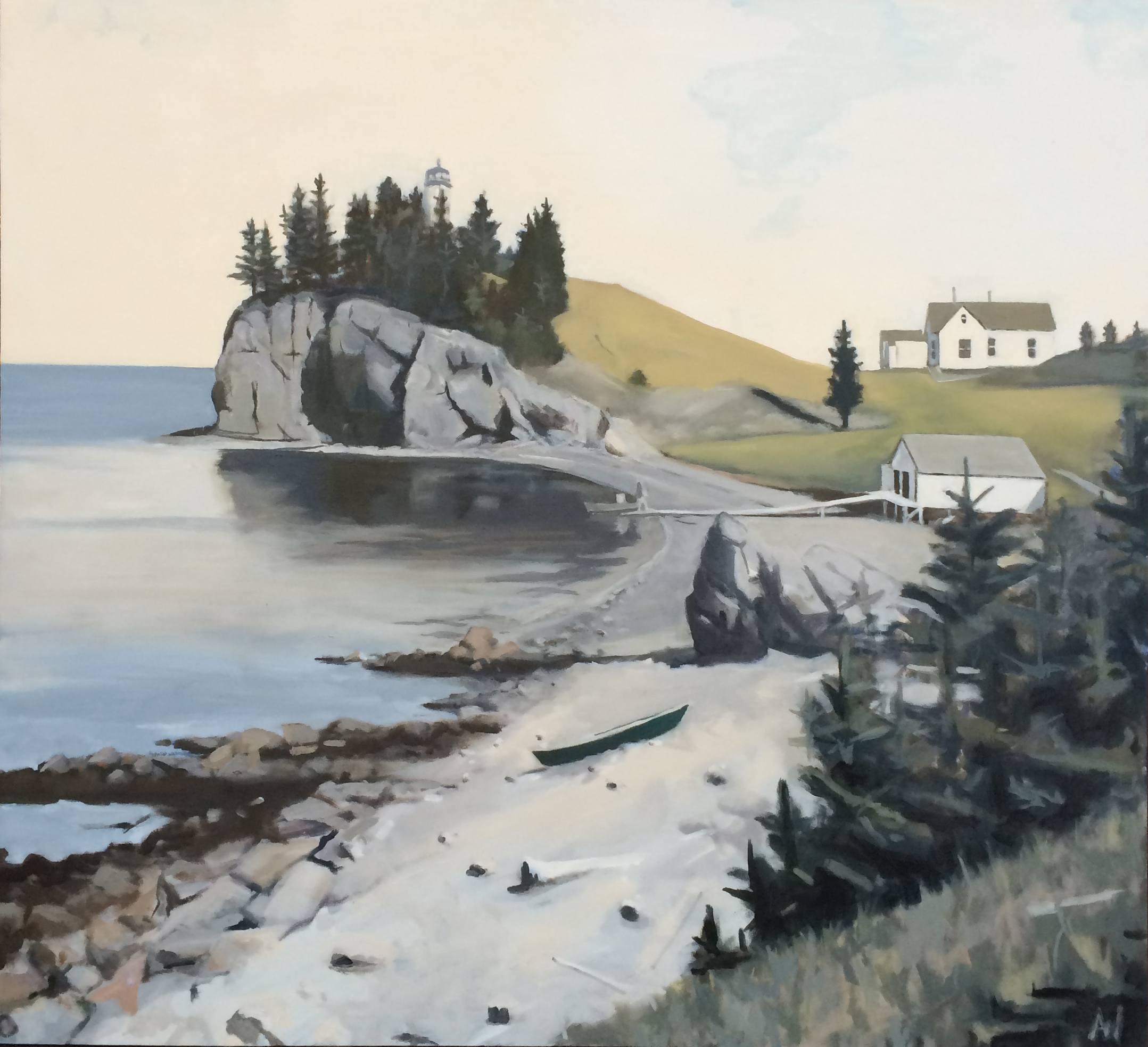 The Cove (Life During Wartime), Oil on Canvas, 55x60""