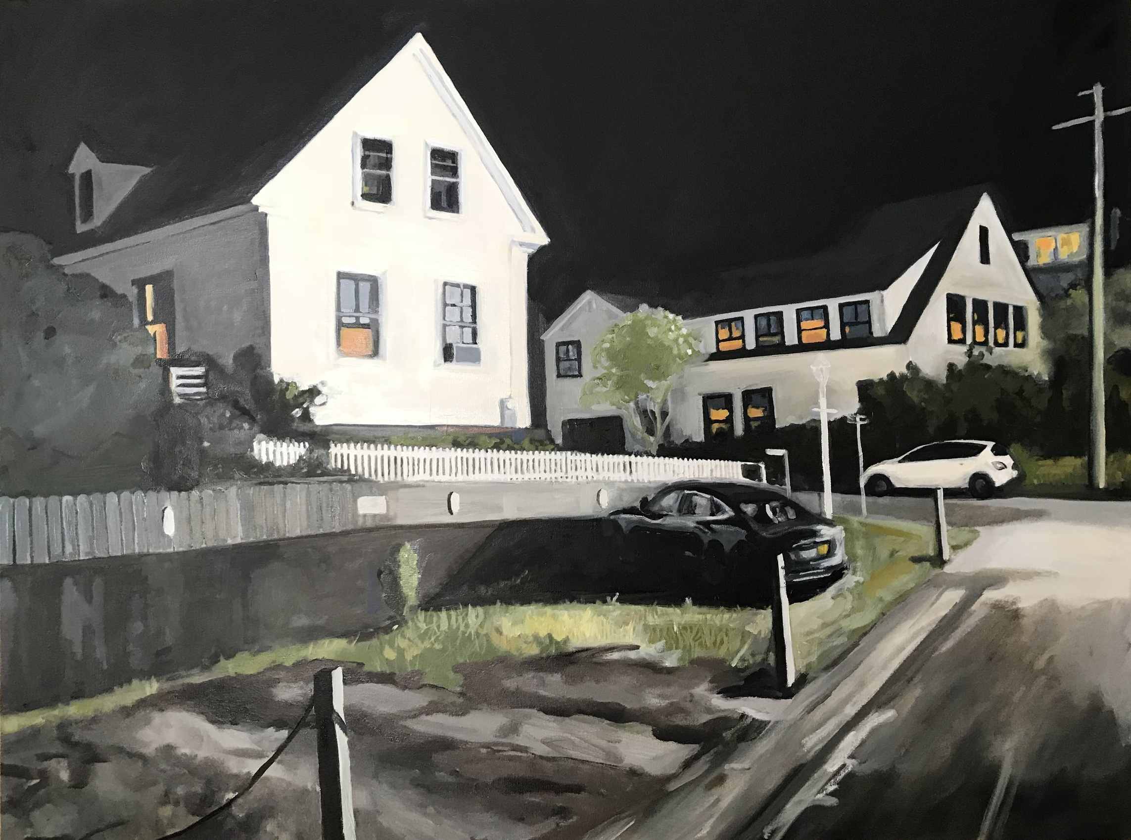 "Untitled (Provincetown Night), 36x48"", Oil on Canvas"