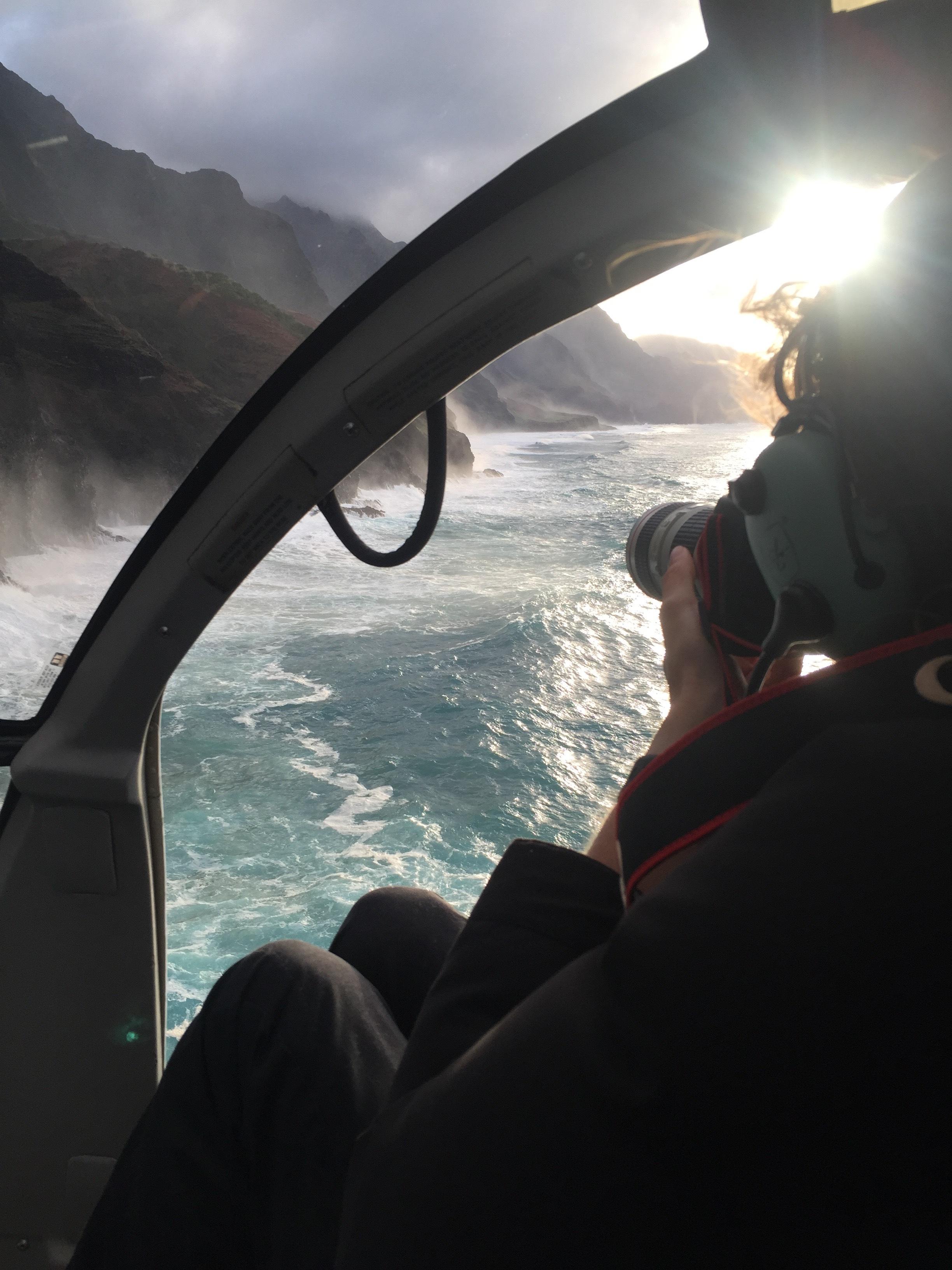Helicopter shoot, Na Pali Coast