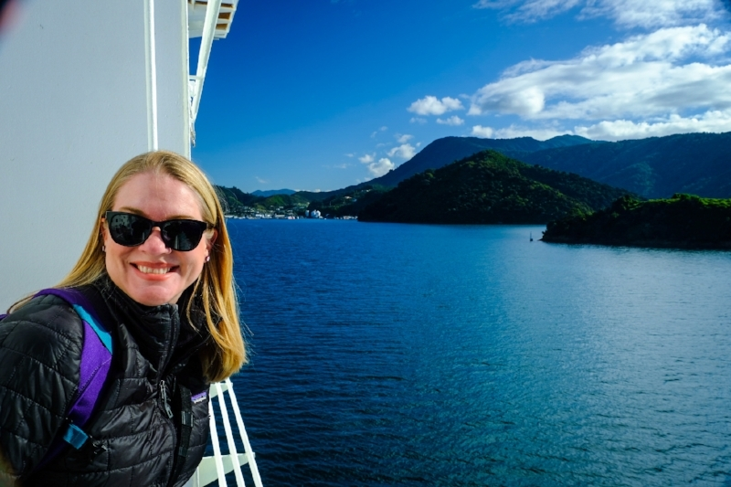 Jona on the ferry to Picton