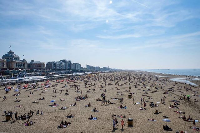 Day 222: It was a beautiful summer day when we arrived in Schevenigen, in the Netherlands; the whole town went to the beach. Amazing.  #Scheveningen #sunshine #bluesky #clouds #Holland #Netherlands #worldtravel #travelblogger #travelphotography #travelphotographyoftheday #travel #traveler #roundtheworld #globetravel #worlderlust #travelpics #Instagram #instatravel #lonelyplanet #travelgram #travel #instaphoto #photography #Fujifilm #XT2