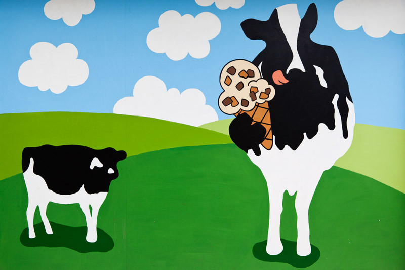 This Ben and Jerry's image shows what should be a nursing mother instead consuming an ice cream cone made from her own milk – in front of her baby, no less.