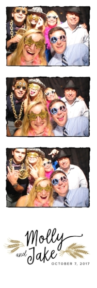 Molly and Jakes PhotoBooth Photostrip featuring their special custom crafted Logo we created for them!