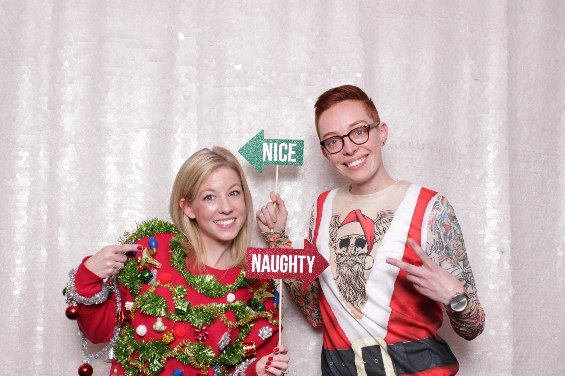 white large sequins chroma Photo Booth