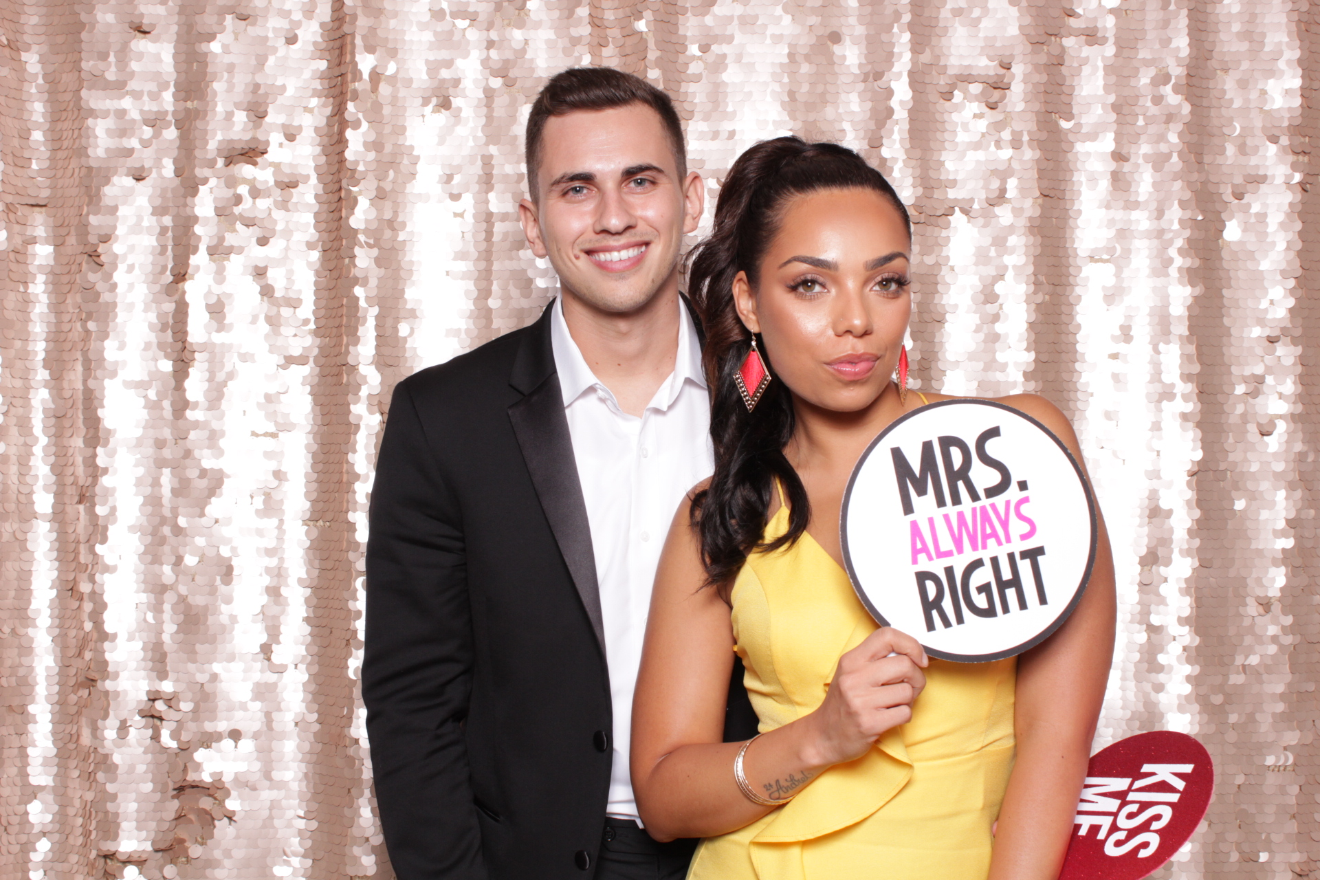 Champagne Large Sequin Chroma Photobooth