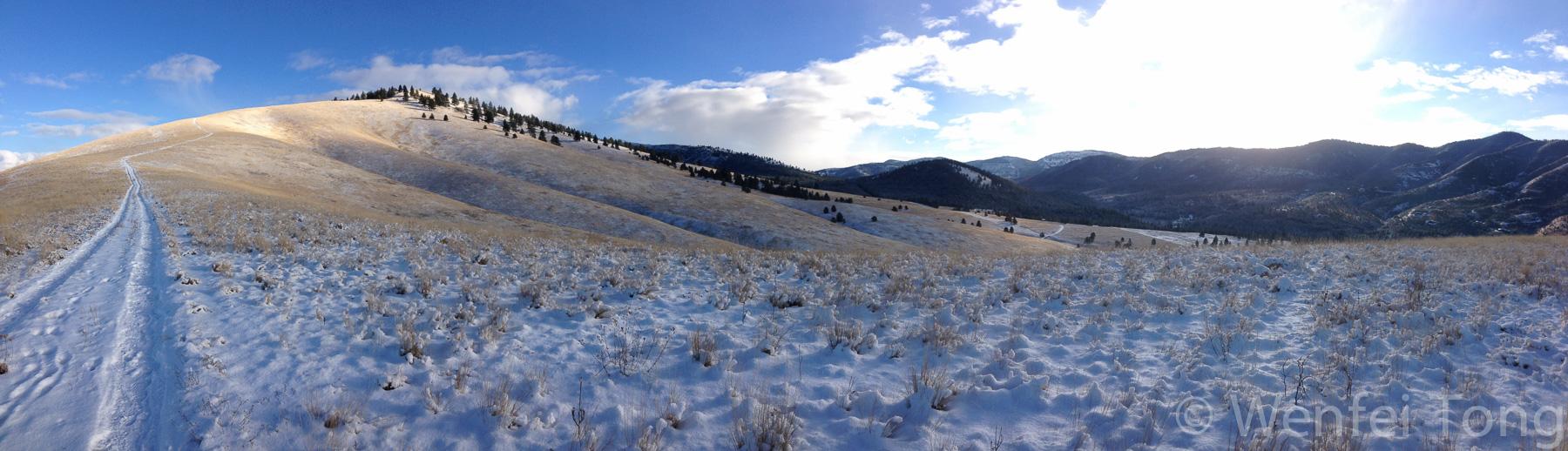Mount Sentinel in winter