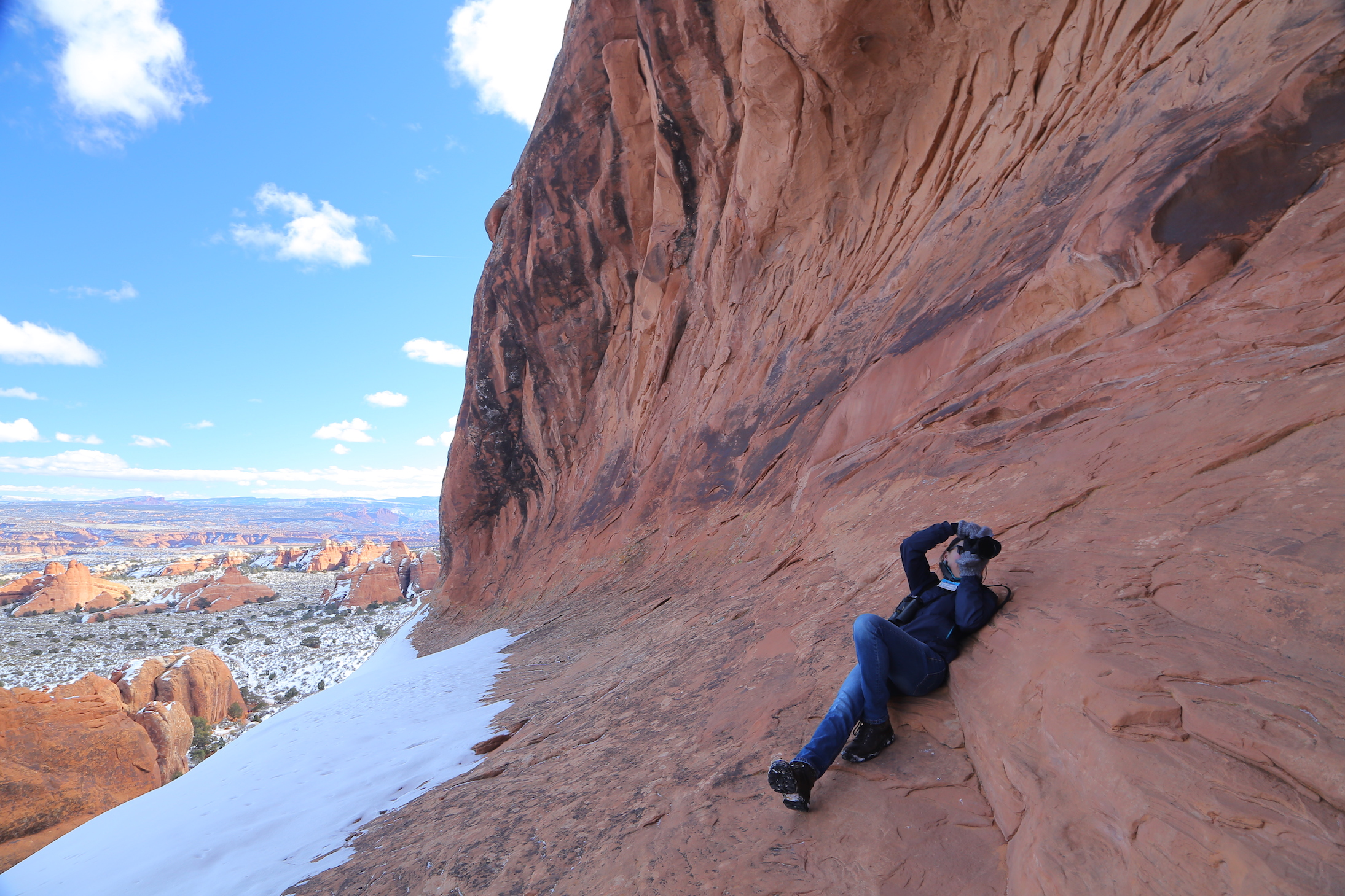 Photos of wenfei in Arches National Park by Ivan Dong