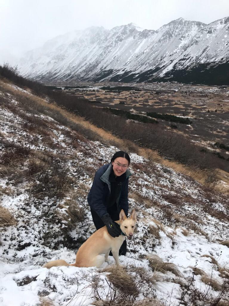 In the Chugach near Anchorage, Alaska with ANA. Photo by Erin Larson