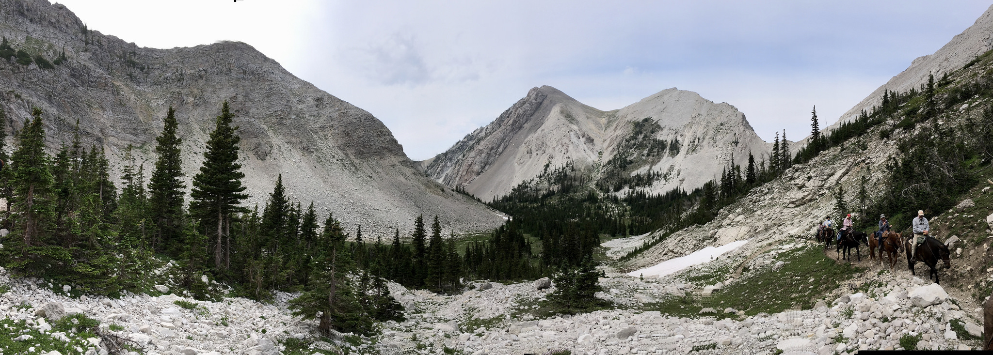Riding towards Headquarters Pass in the Bob Marshall Wilderness