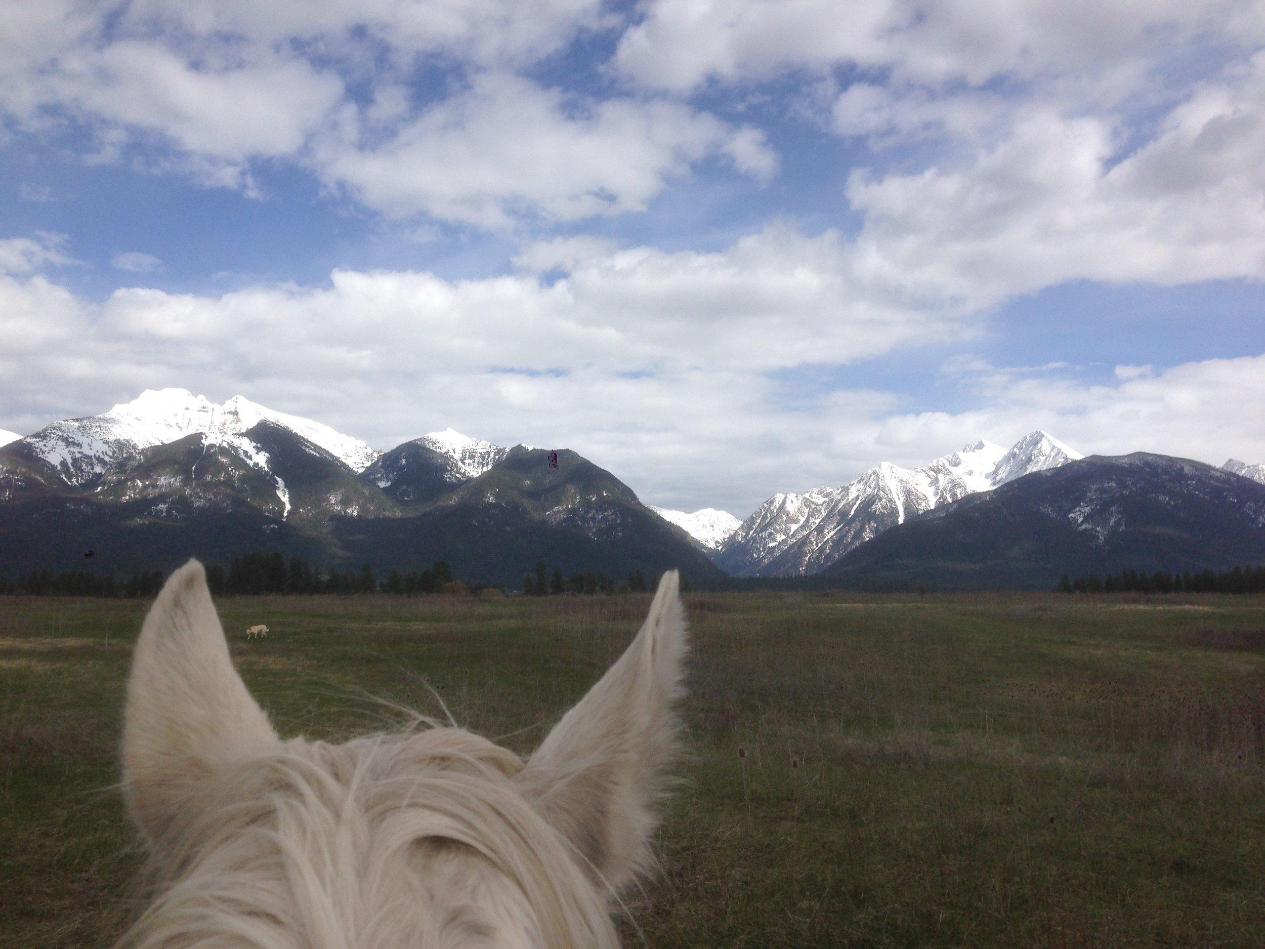 Mission range from horseback