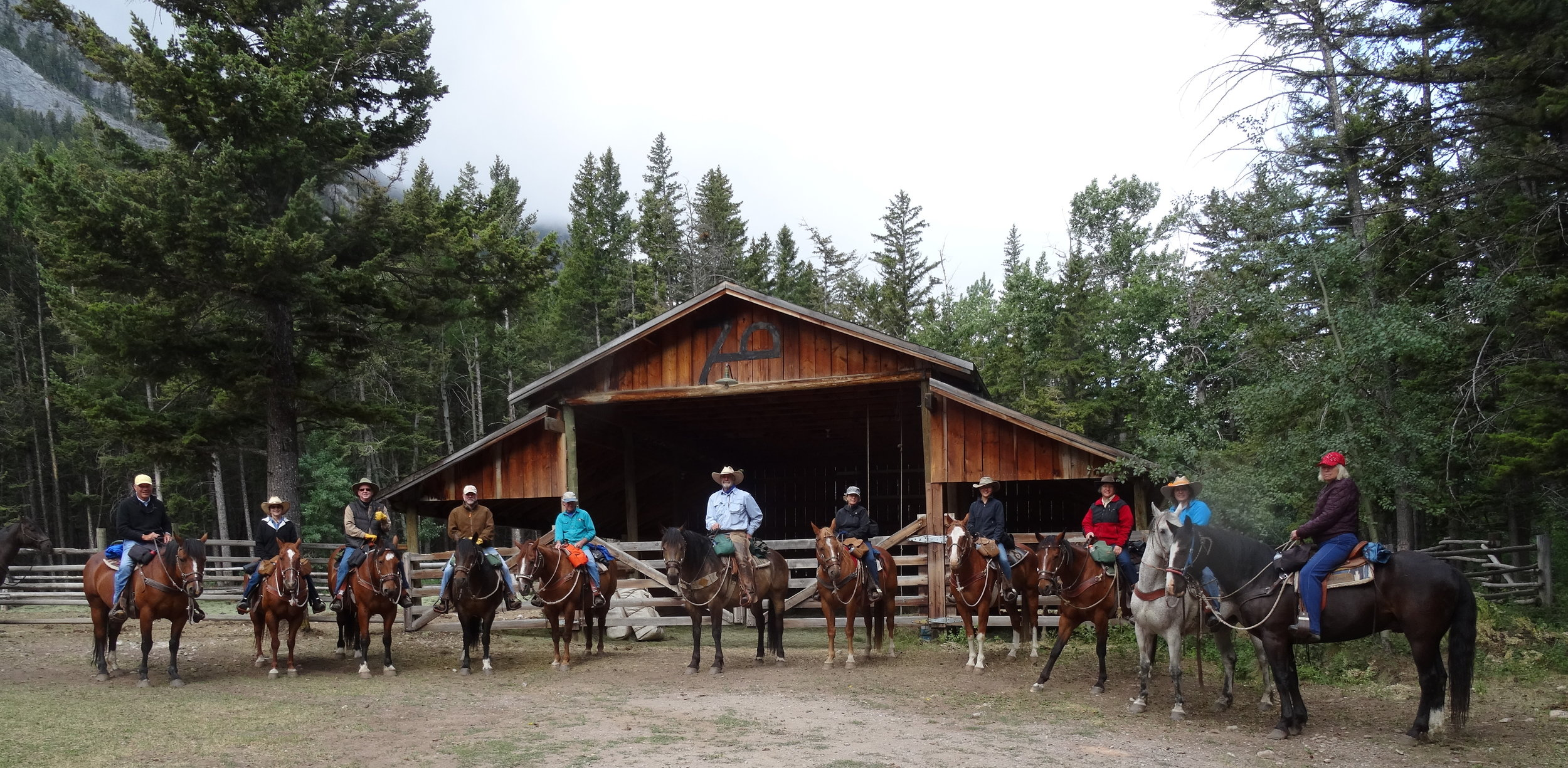 Ready to set off into the Bob Marshall Wilderness