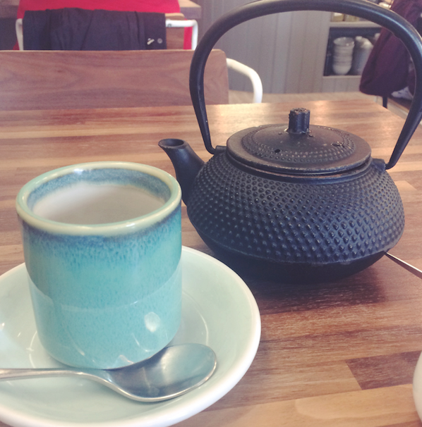 Tea served in a tetsubin teapot at Fia in Dublin, Ireland