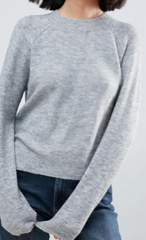 ASOS Jumper In Fluffy Yarn With Crew Neck.png