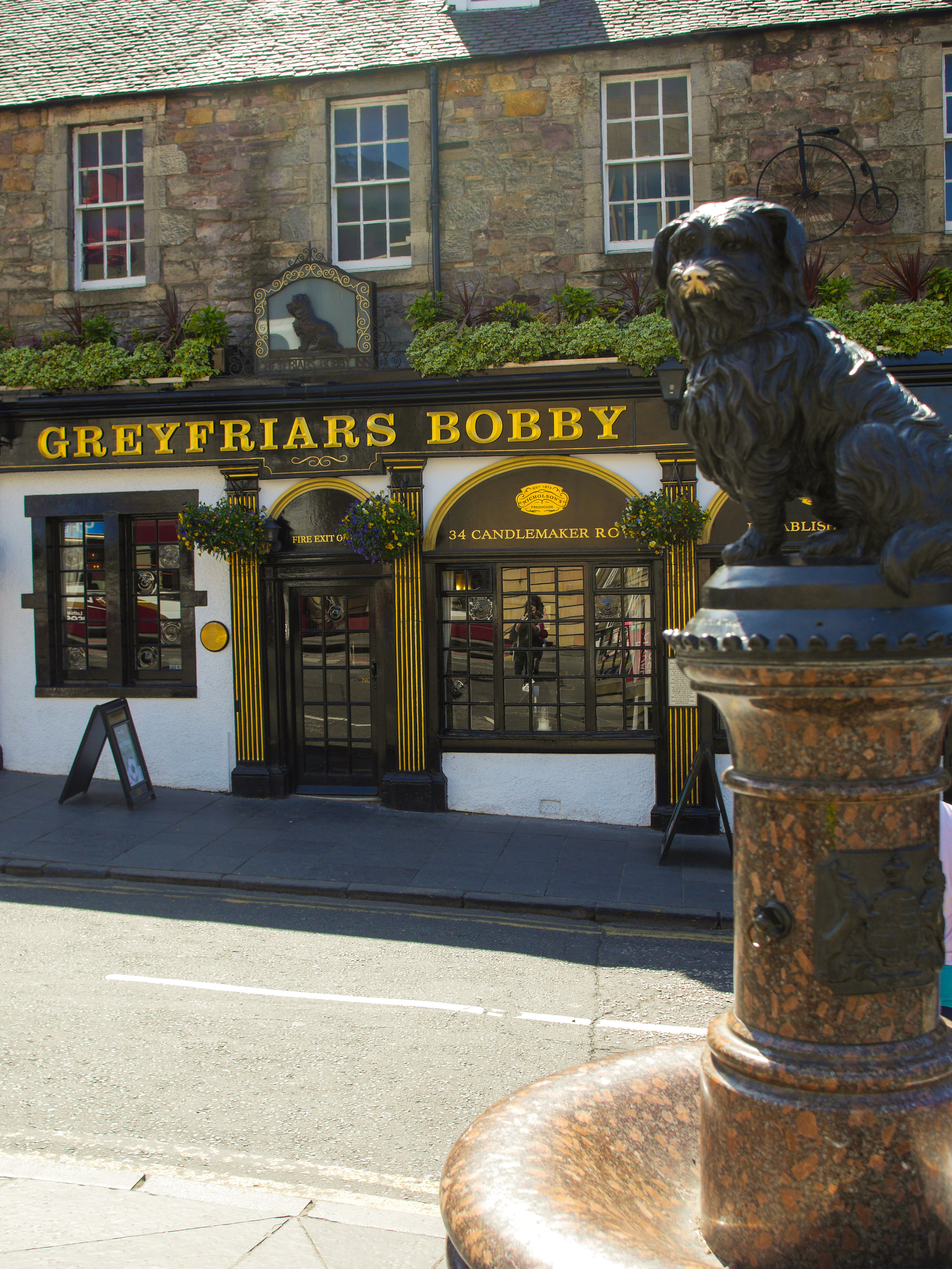 Greyfriars Bobby in Edinburgh, Scotland