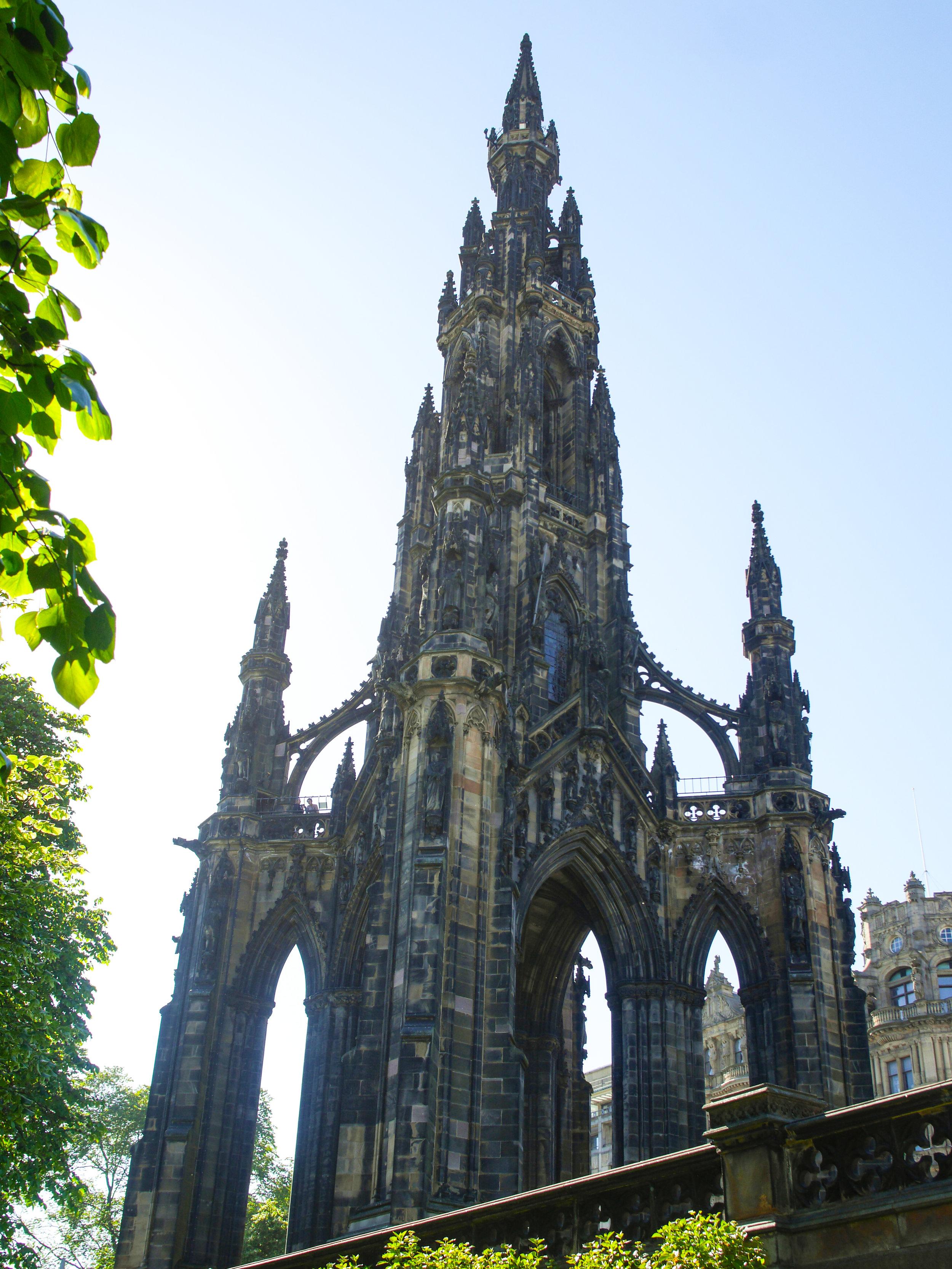 Scott Monument in Princes Street Gardens in Edinburgh, Scotland
