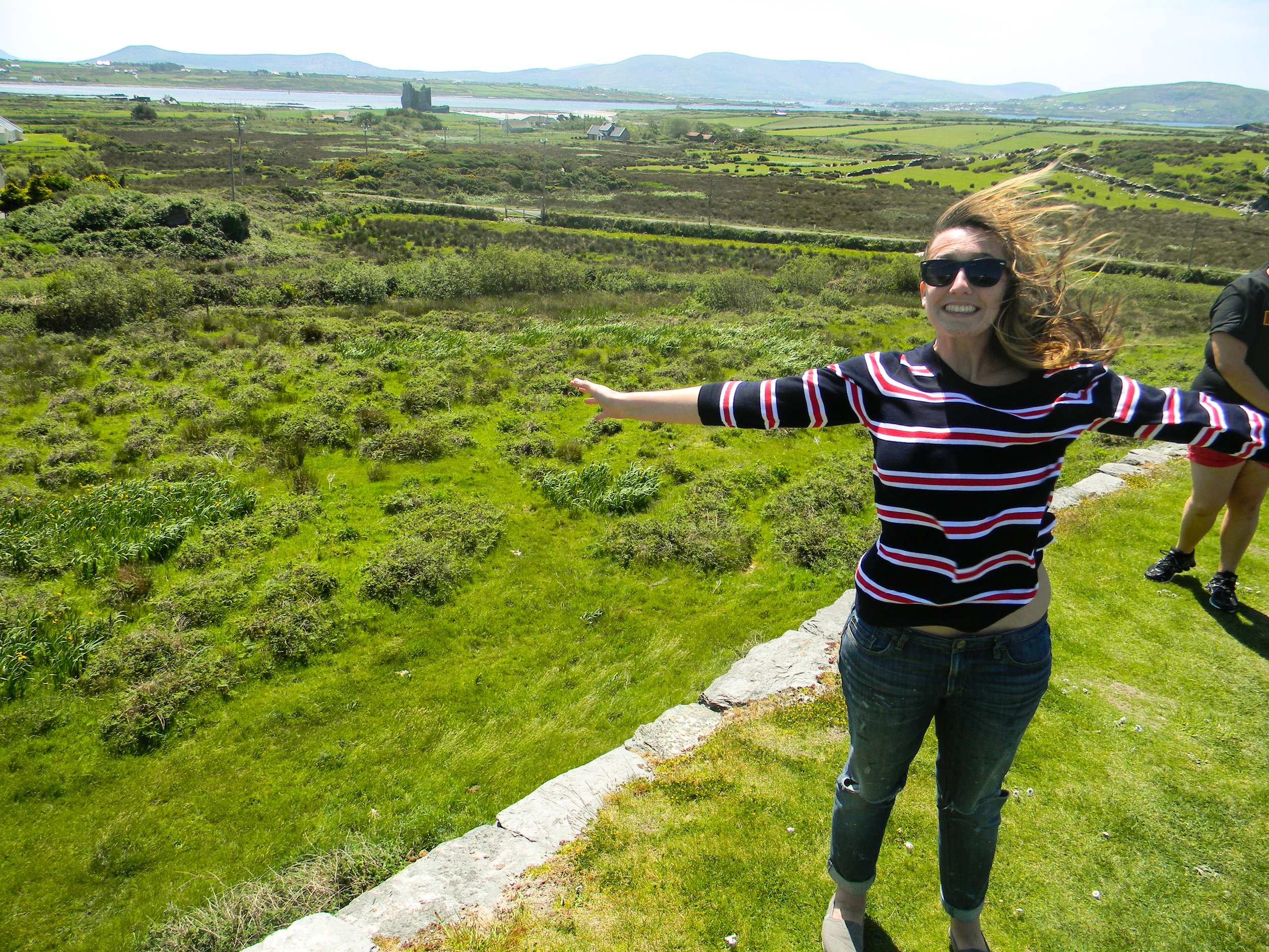 Candid Alexandra on a Fairy Fort in Ireland