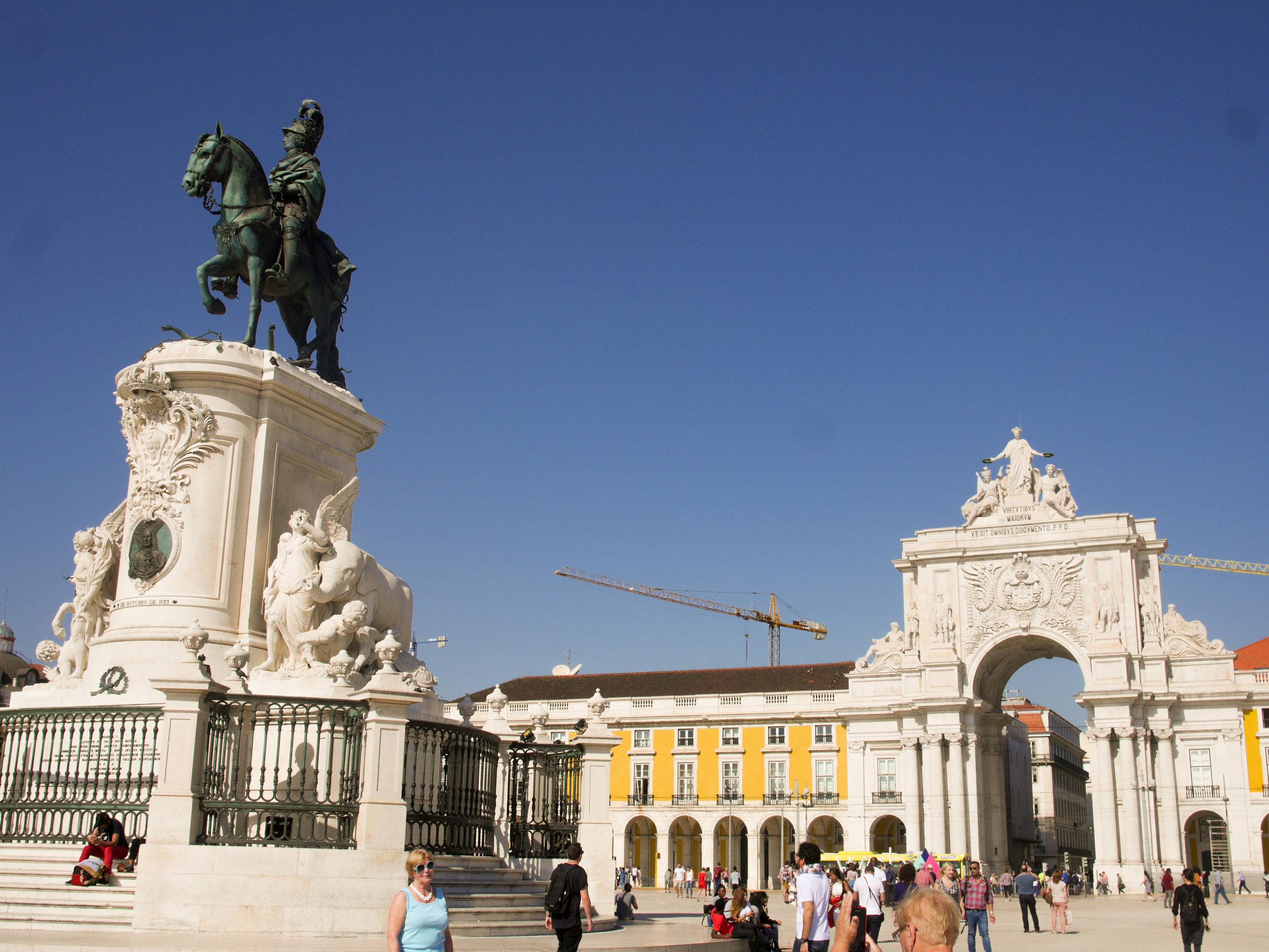 Praça do Comercio in Lisbon, Portugal