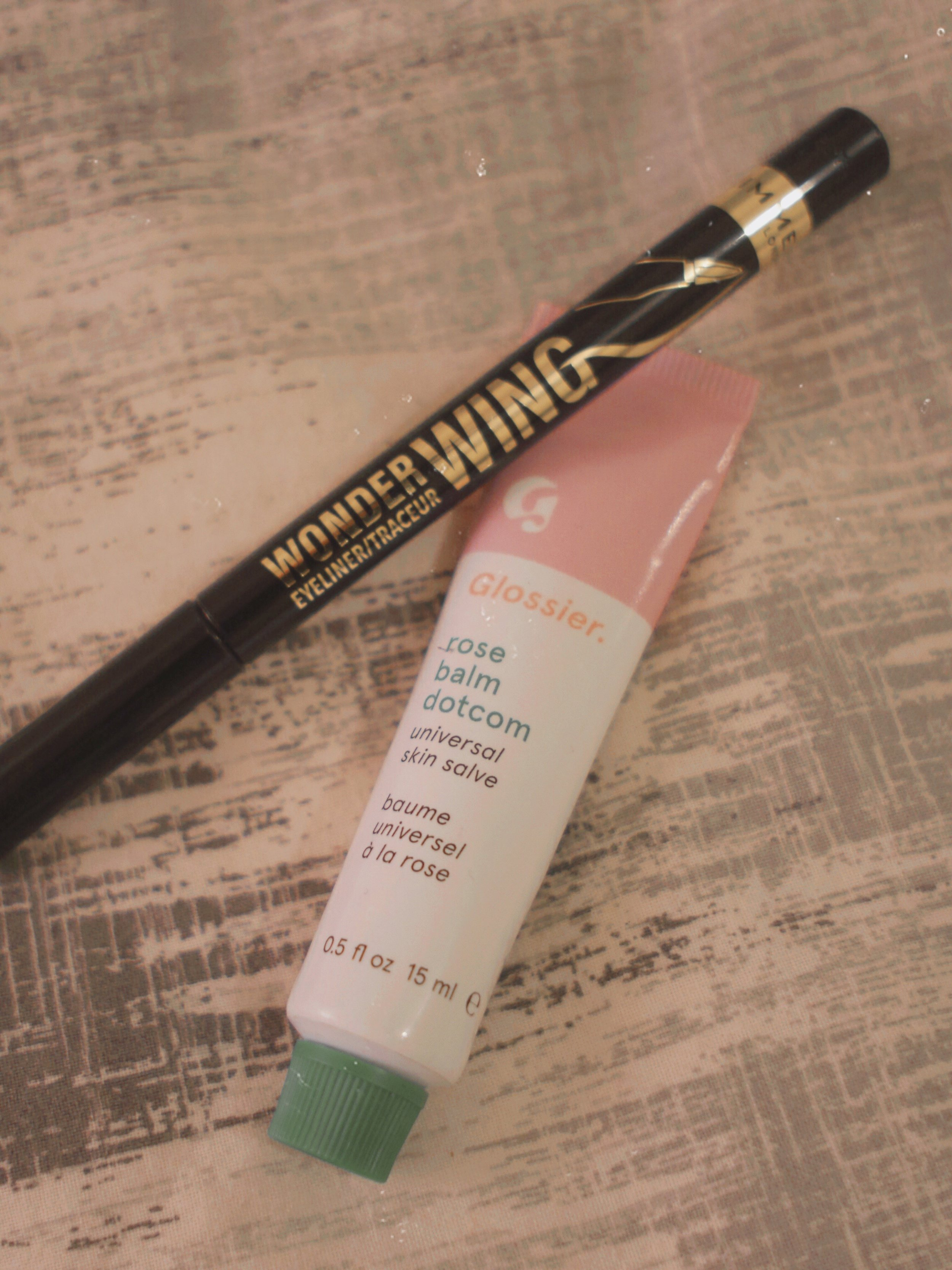 Rimmel Wonderwing and Glossier Rose Balm Dotcom
