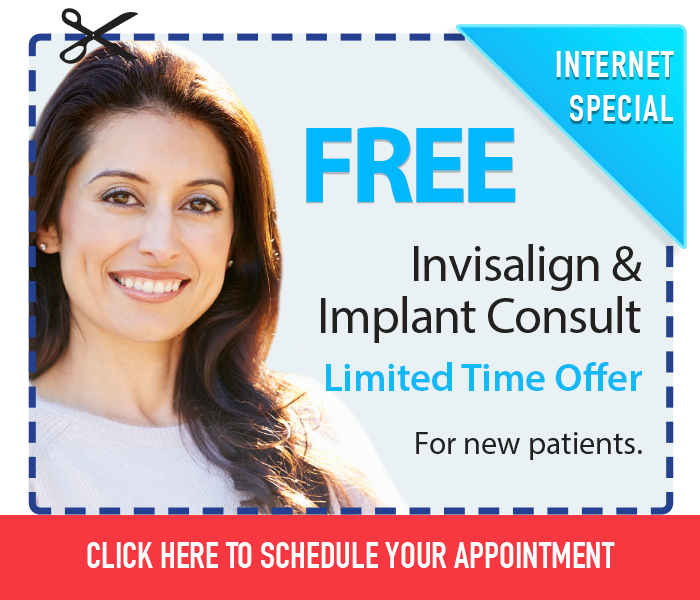 Free Implant and Invisalign Consult for new patients.