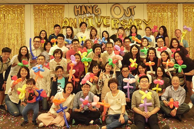 A great celebration for 1 yr Hang Out Anniversary ! Thank you everyone for your gifts and support! #systemoftheheart #ioptasia #hangoutasia