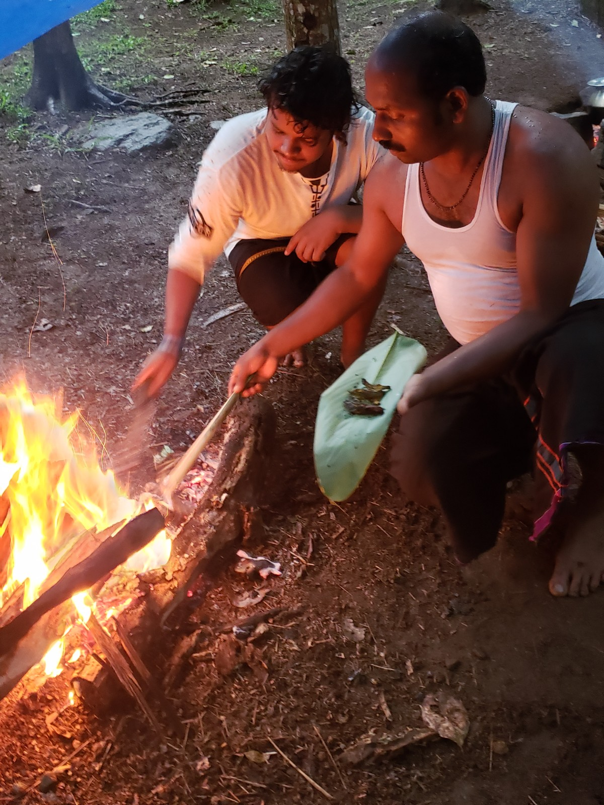 The Tribal Cooking Demonstration at Spice Village . Thekkady.