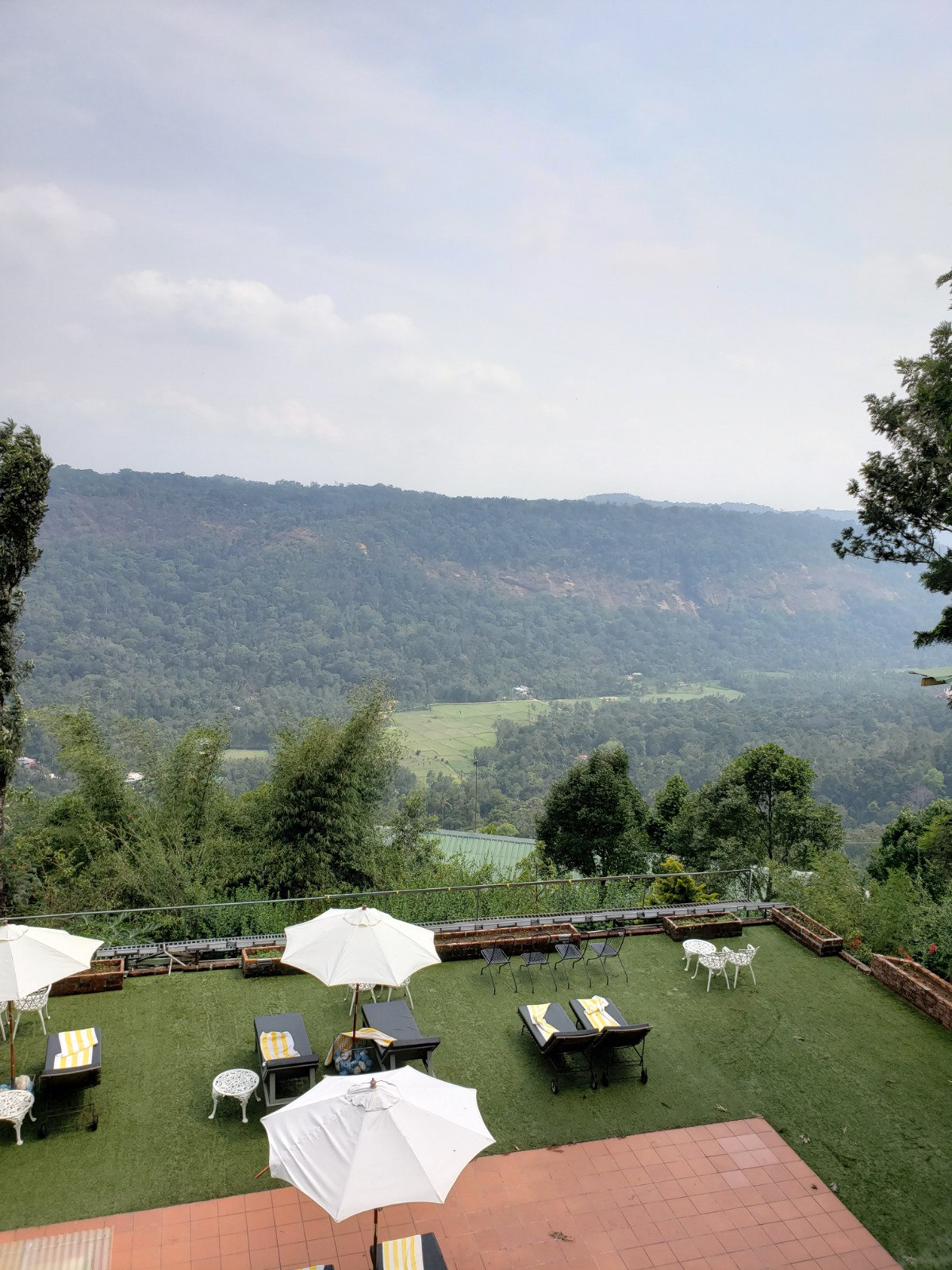 The view from Spice Tree Village in the beautiful Munnar - This resort was spectacular.
