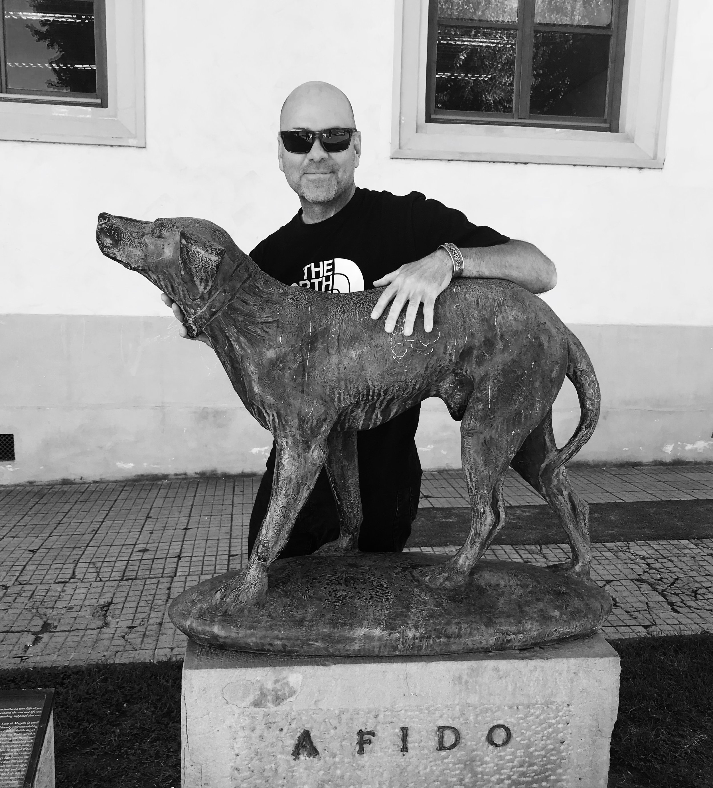 Paul, at the Fido Memorial in Borgo San Lorenzo, Tuscana, Italia